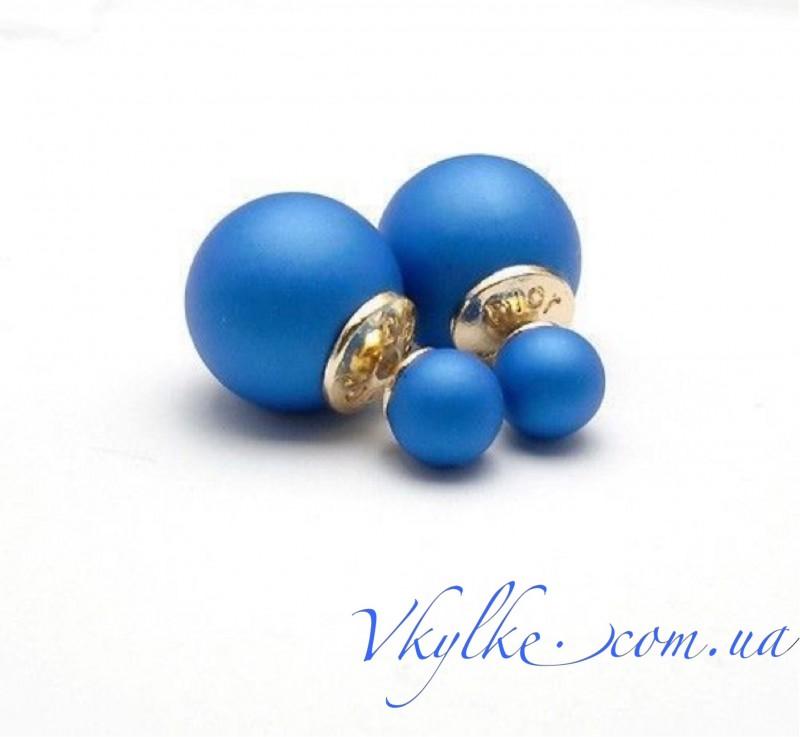 Серьги Mise en Dior синие
