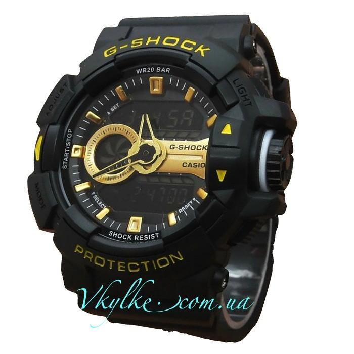 Casio G-Shock GA-400 черные с золотом
