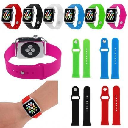Силиконовый ремешок Apple Watch 1/2/3 soft touch 38/42 мм sm/ml
