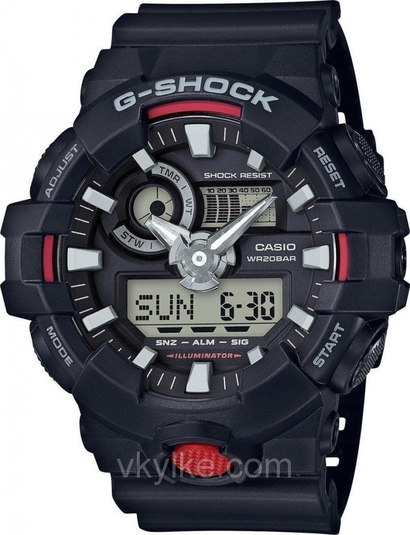 Часы Casio GA-700 Black-red AAA