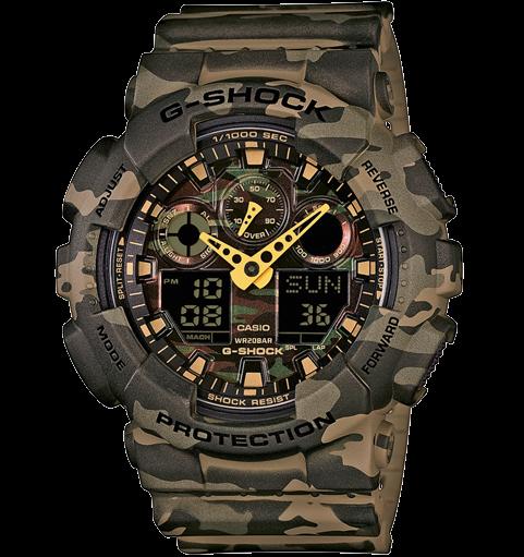 Casio G-Shock GA-100CM-5AER хаки