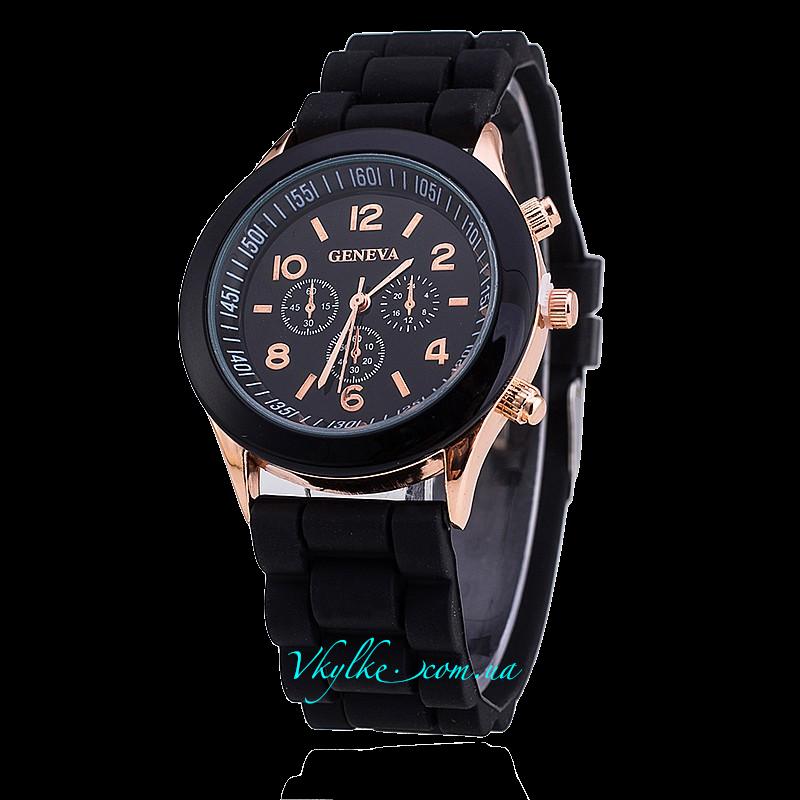 Часы Geneva черного цвета