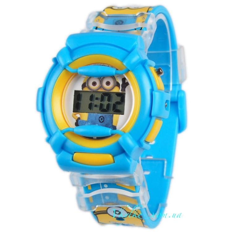 Часы ✪Миньоны 3d✪ синие