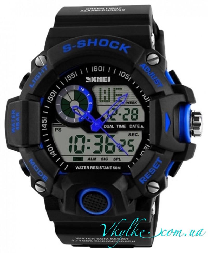Skmei Military S-Shock (1053) черные с синим