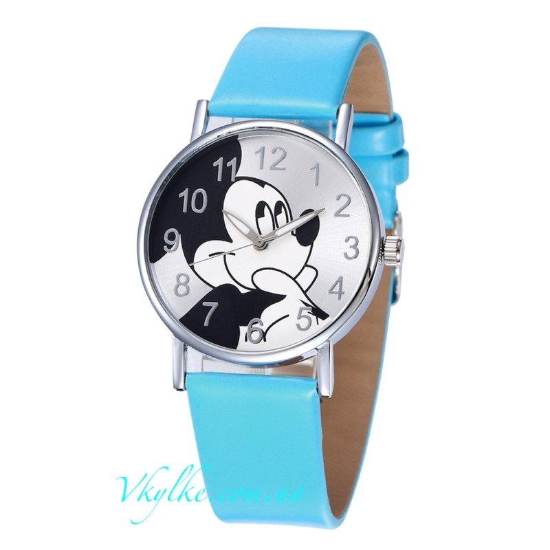 Детские часы Mickey Mouse голубые