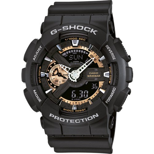 КОПИЯ CASIO G-SHOCK GA-110 ЧЕРНЫЕ С МЕДНЫМ