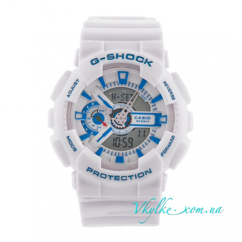 Копия CASIO G-SHOCK GA-110 белые с голубым