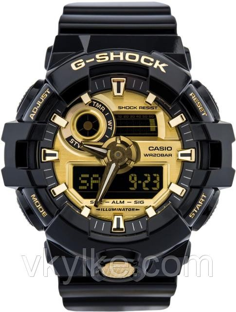 Часы Casio GA-710 Black gold AAA