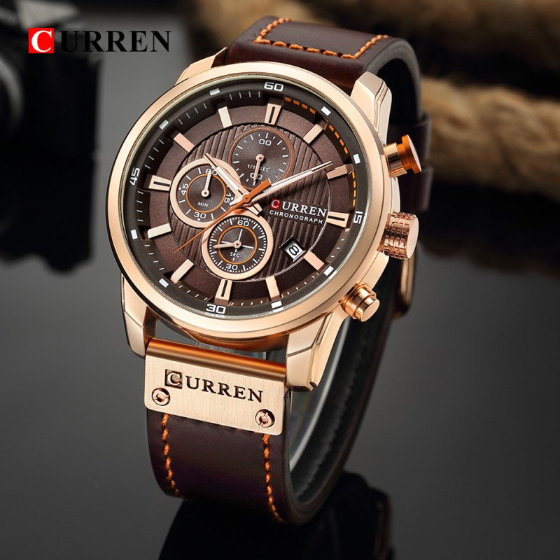ЧАСЫ CURREN 8291 rose gold brown