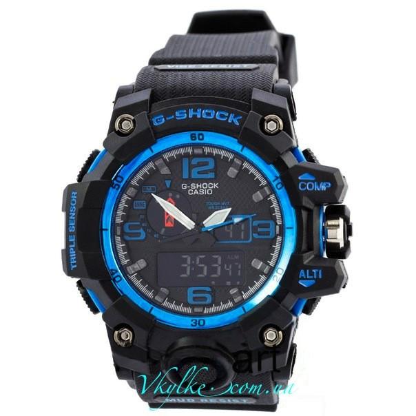 Часы G Shock GWG-A1000 MUDMASTER черные с синим