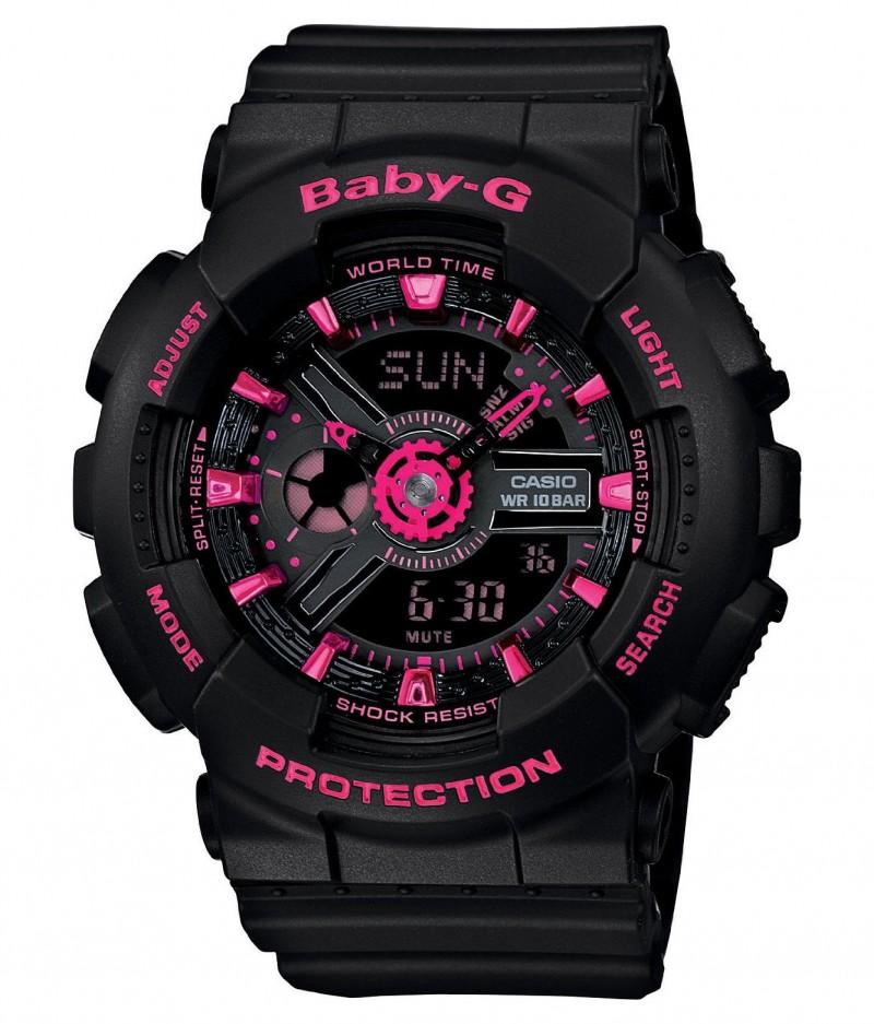 CASIO Baby-G BA-111-1AER черные с розовым