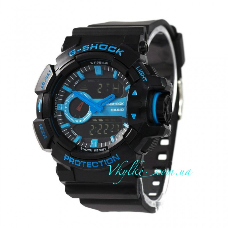 Casio G-Shock GA-400 черные с синим