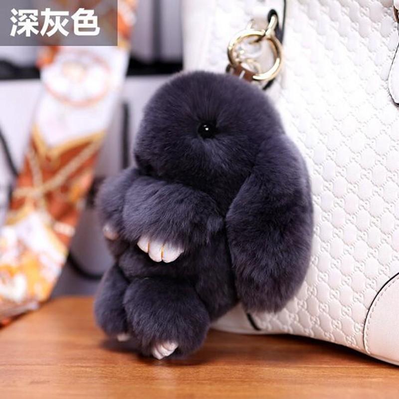 Брелок кролик (10 см) черный