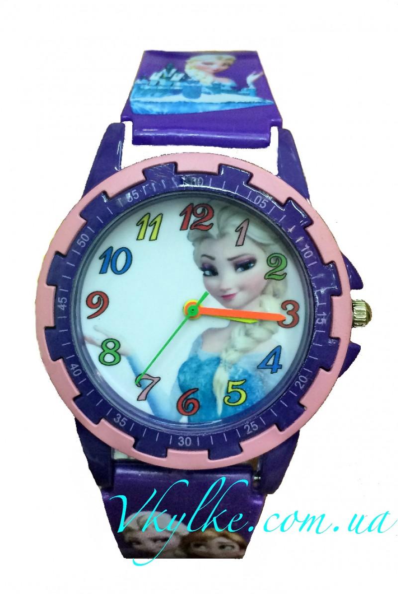 Детские часы ХОЛОДНОЕ СЕРДЦЕ фиолетовые