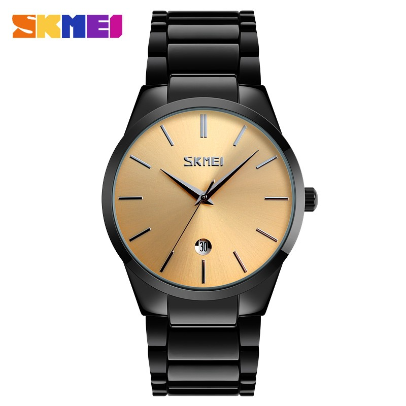 Skmei 9140 black gold