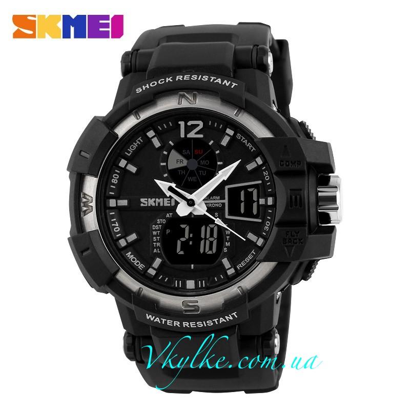 Skmei Shock Resistant(1040) черный с серым