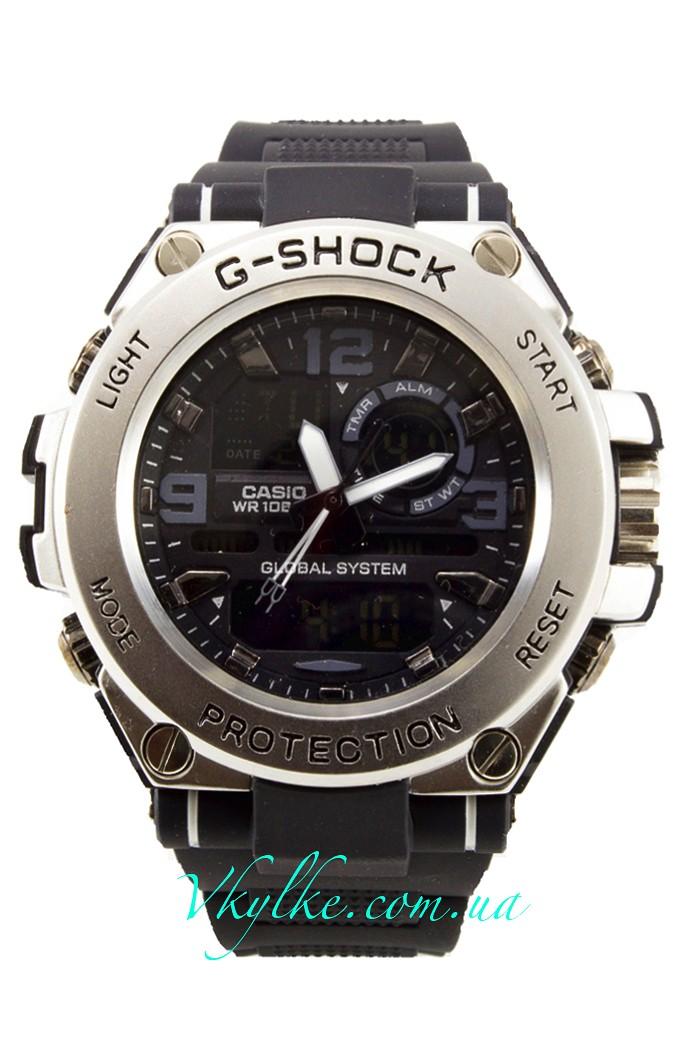 Часы Casio G-Shock GST-1000 черные с серебром