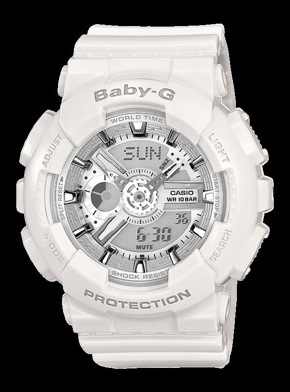 CASIO Baby-G BA-110-7A3ER белые
