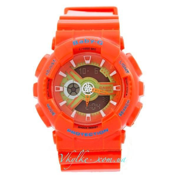 Casio Baby-G BA-110 оранжевые
