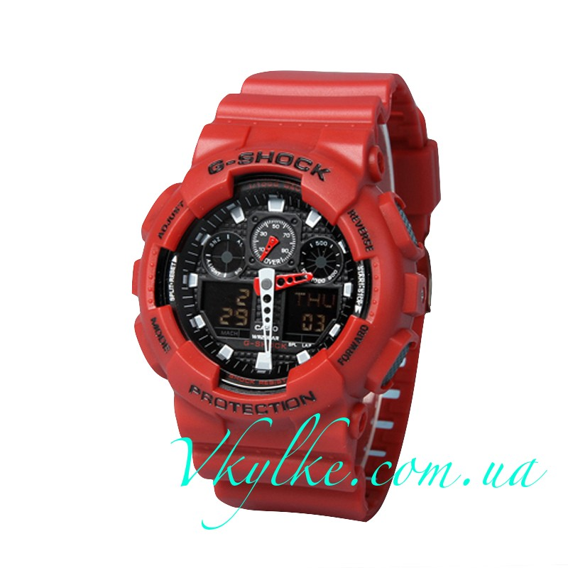 ЧАСЫ CASIO G-SHOCK GA-100 Red ААА
