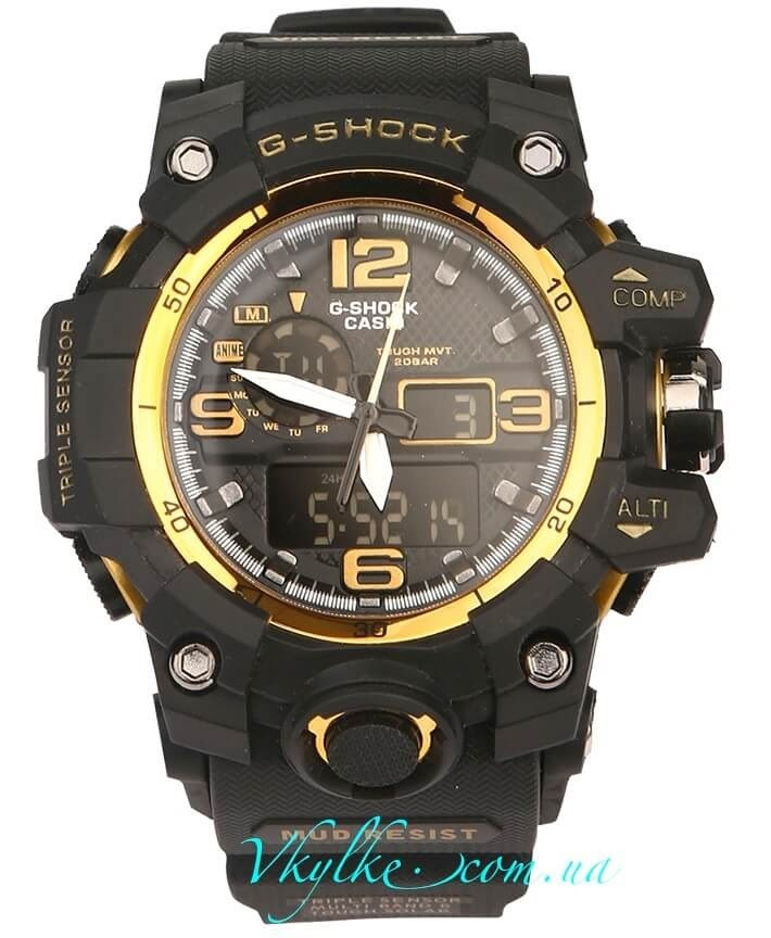 Часы Casio G-Shock GWG-1000 черные с золотом