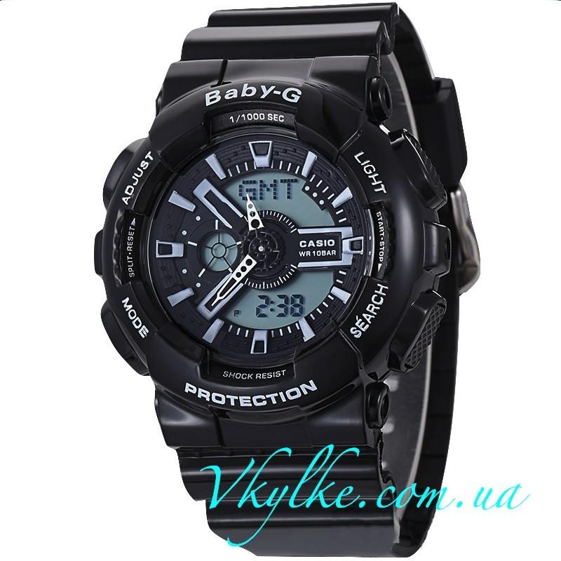 Casio Baby-G BA-110 черные с белым