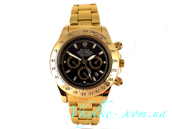 ROLEX DAYTONA GOLD WITH BLACK