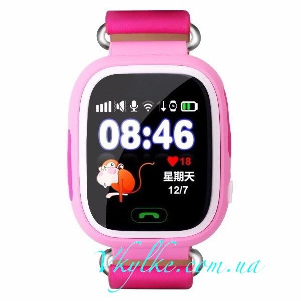 Детские Smart baby watch Q100 (Q90) розовые