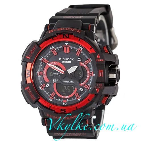 Часы Casio G-Shock G-1100 черные с красным