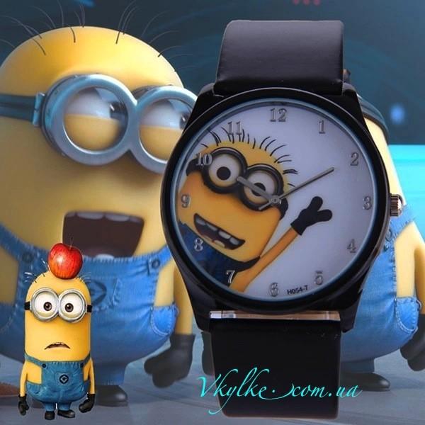 Часы «Миньоны» черные
