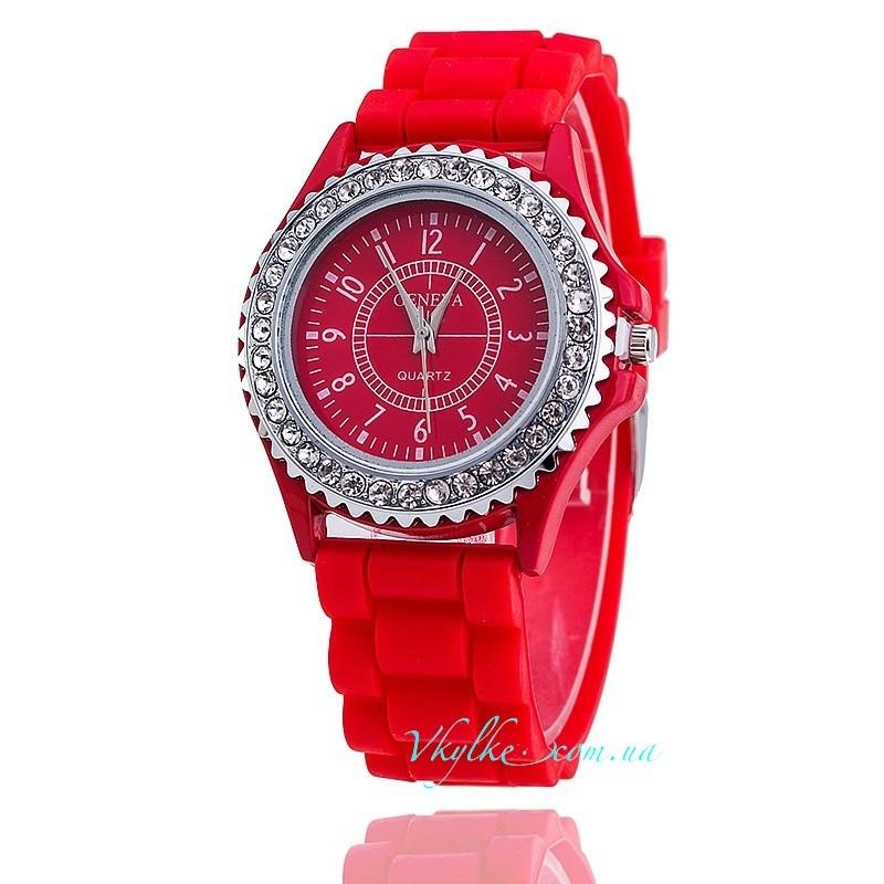 ЧАСЫ Geneva Diamond красные
