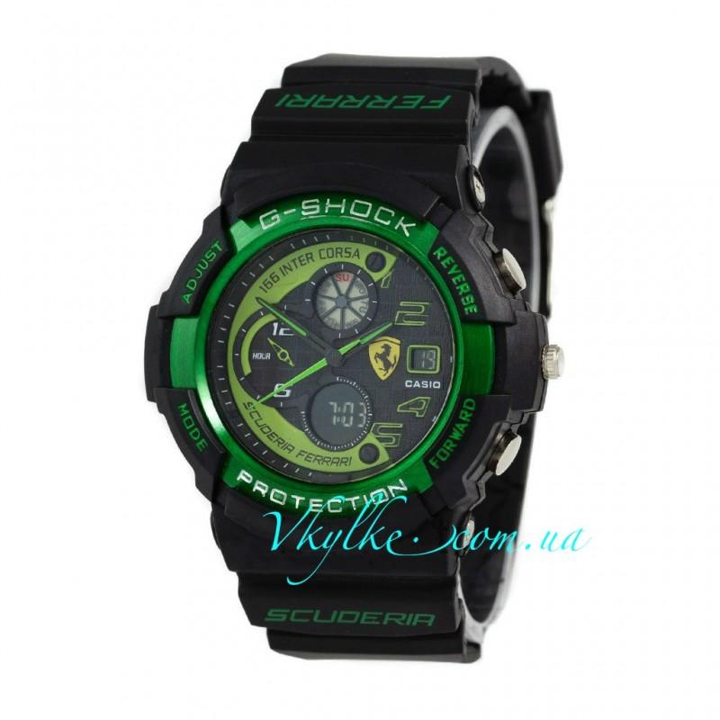 Casio G-Shock FERRARI черные с зеленым