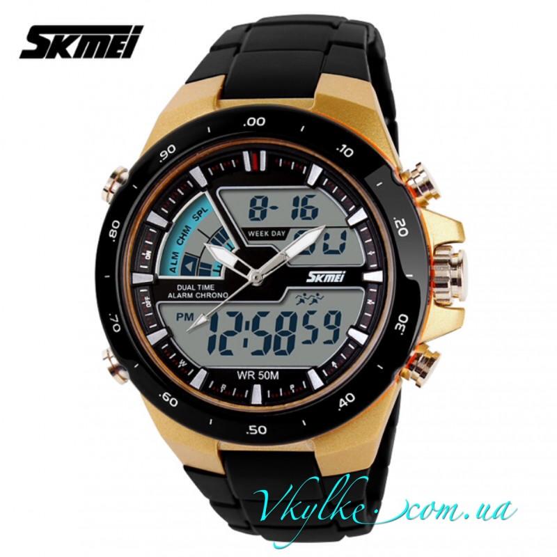 Skmei Sport Dive (1016) черные с золотом