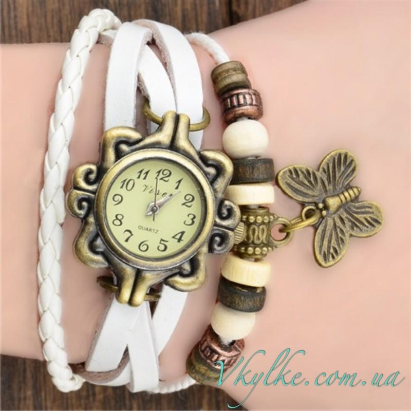 Винтажные часы Viser белого цвета