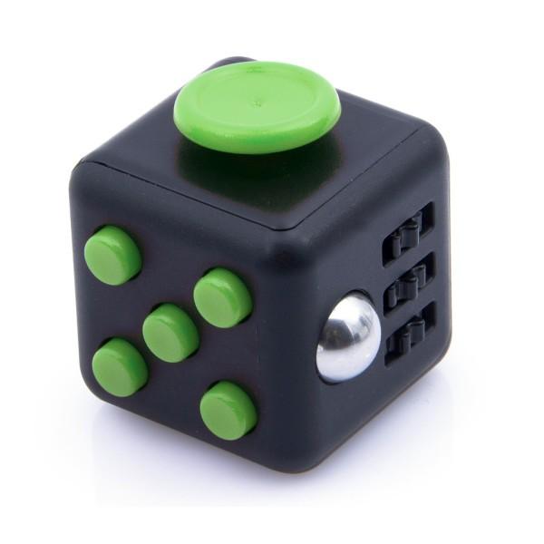 Fidget Cube черный с зеленым
