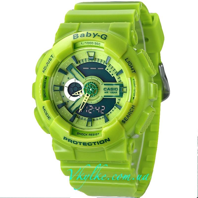 CASIO BABY-G BA-110 зеленый