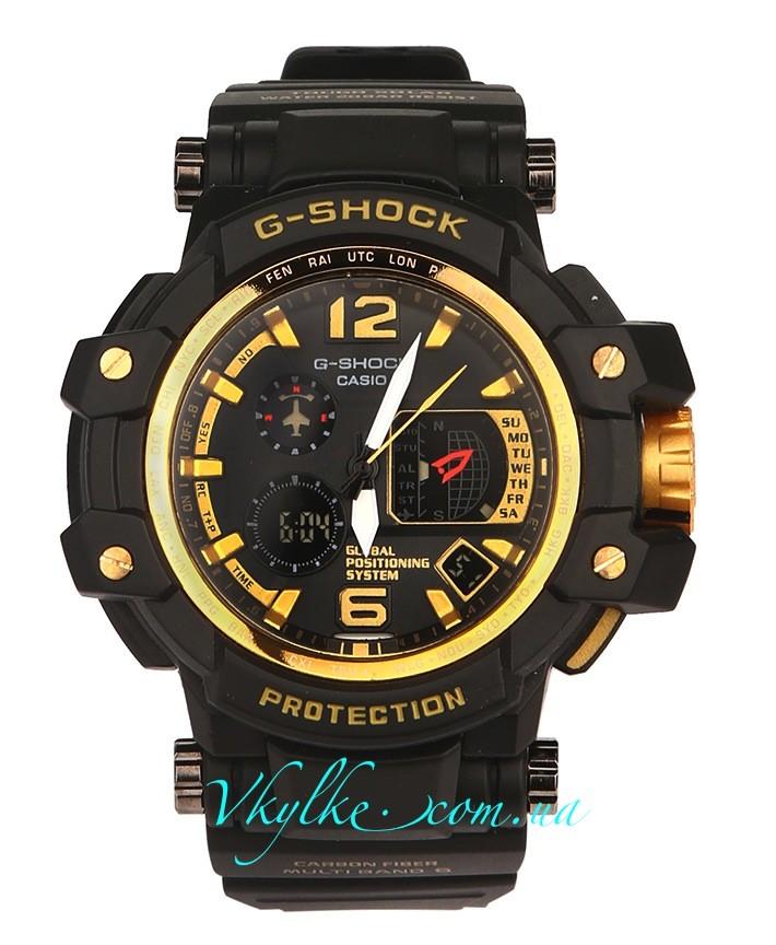 Casio G-Shock GPW-1000 черные с золотом