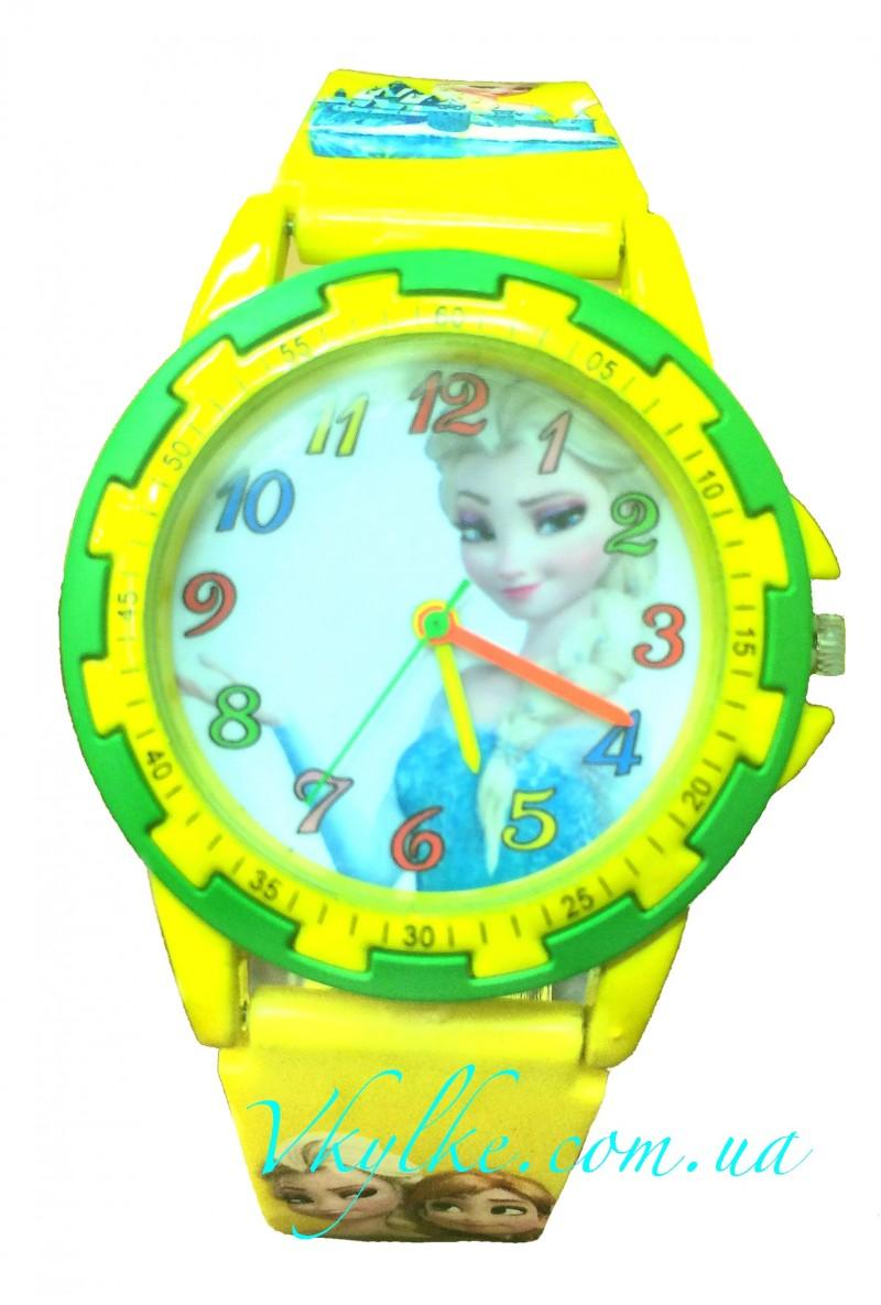 Детские часы ХОЛОДНОЕ СЕРДЦЕ желтые
