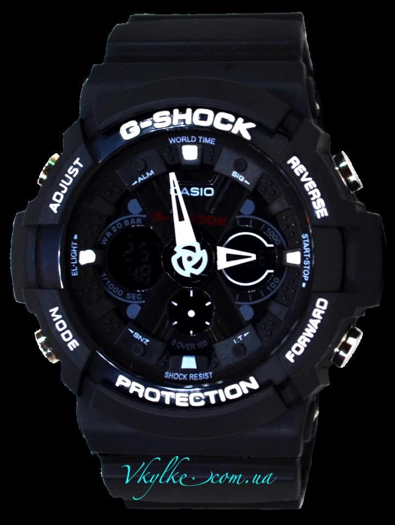 Копия Casio G-Shock GA-200 черный с белым
