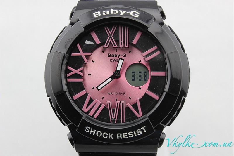 Casio Baby-G BGA-160 черные с розовым