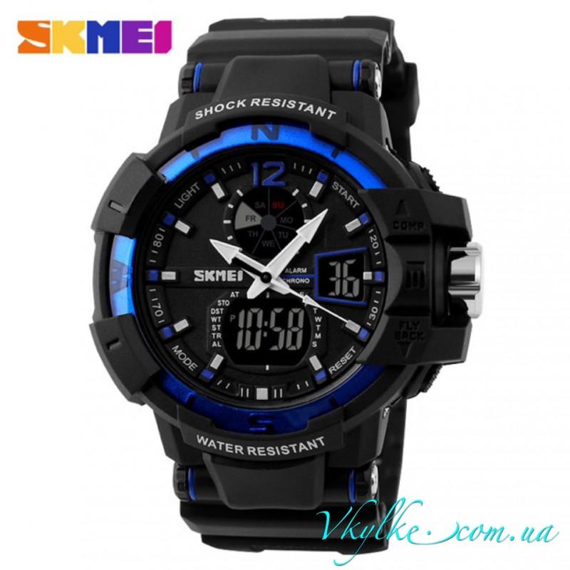 Skmei Shock Resistant(1040) черный с синим