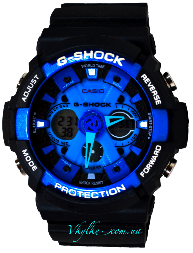 Копия Casio G-Shock GA-200 черный с синим