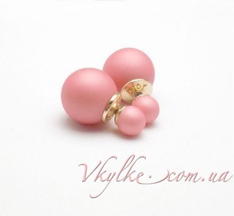 Серьги Mise en Dior розовые