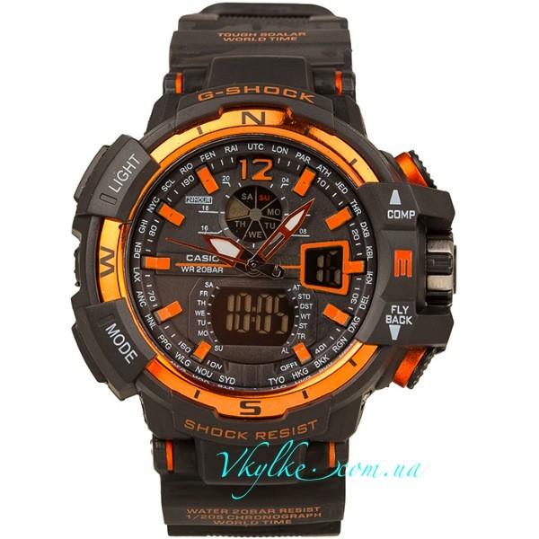 Часы Casio G-Shock GW-A1100 черные с оранжевым