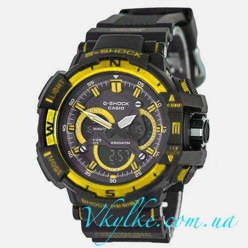Часы Casio G-Shock G-1100 черные с золотом