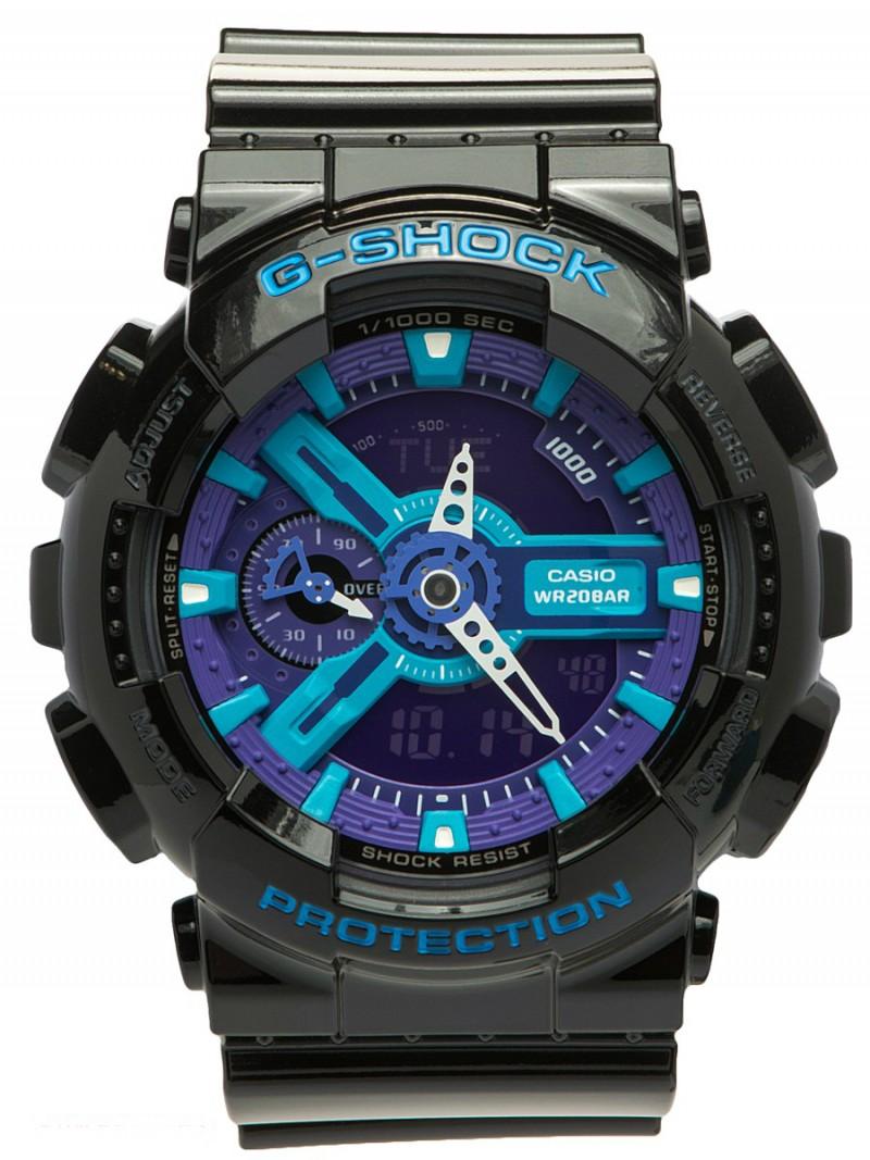 Casio G-Shock GA-110HC-1AER черные с фиолетовым