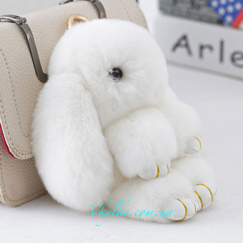 Брелок кролик (10 см) белый