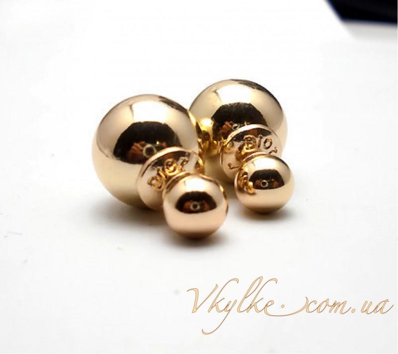 Серьги Mise en Dior золотые