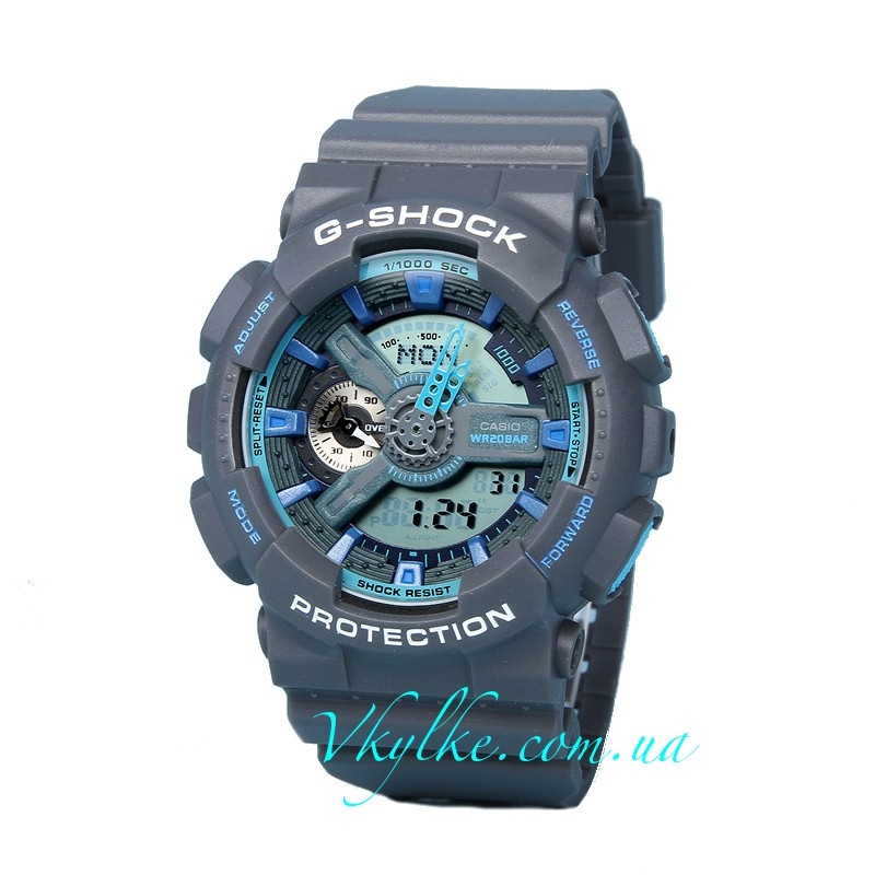 Часы CASIO G-SHOCK GA-110 Gray-blue AAA