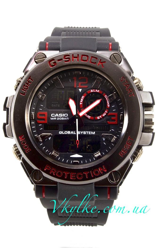 Часы Casio G-Shock GST-1000 черные с красным